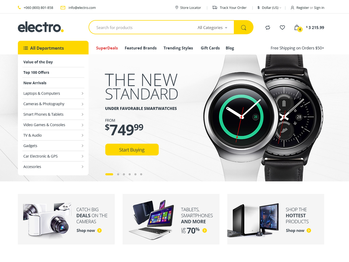 Screenshot of Electro WooCommerce Theme